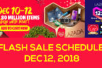 Lazada 12.12 Flash Sale Schedule – December 12, 2018