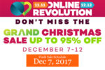Lazada Grand Christmas Sale – Flash Sale Schedule – Dec 7, 2017