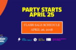 Lazada Birthday Sale Flash Sale Schedule – April 26, 2018