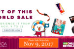 Lazada Online Revolution – Flash Sale Schedule – November 9, 2017
