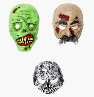 halloween zombie face mask