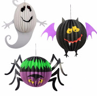 halloween hanging ghosts decoration