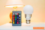 RGB LED Light Bulb with Remote Control Review – Accent Lights!