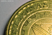 macro photos of everyday objects - coin