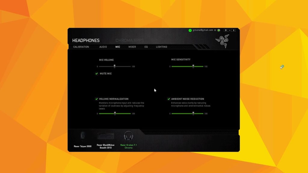 razer kraken microphone settings - razer kraken best settings