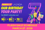 Lazada's 7th Birthday Flash Sale Schedule – March 27, 2019
